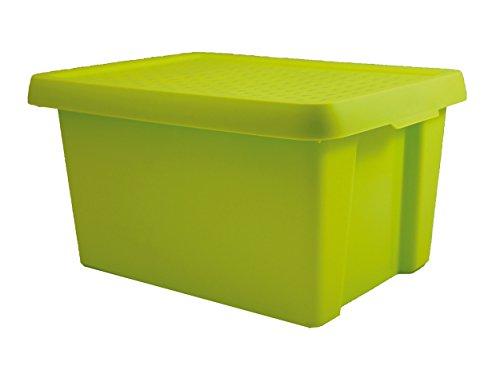 Curver Essentials Box 16L met deksel, groen, OPP Box, 29,8 x 39,4 x 20,9 cm