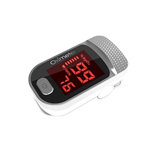 Pinza para Dedo Oxímetro Monitor de frecuencia cardíaca Frecuencia respiratoria Monitor de oximetría de Pulso para Dedo Oxímetro de Pantalla Grande Blanco
