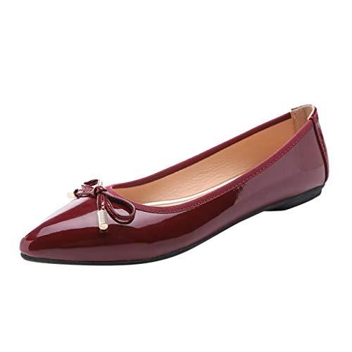 Morran Damen Schuhe Frühling Herbst Flache Schuhe Einfache Freizeitschuhe Sommerschuh,klassisch Elegant Frauen Bogen Spitzen Einzelne