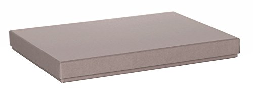 Rössler 1352453490 - S.O.H.O. Boxline Kartonage passend für A4, taupe