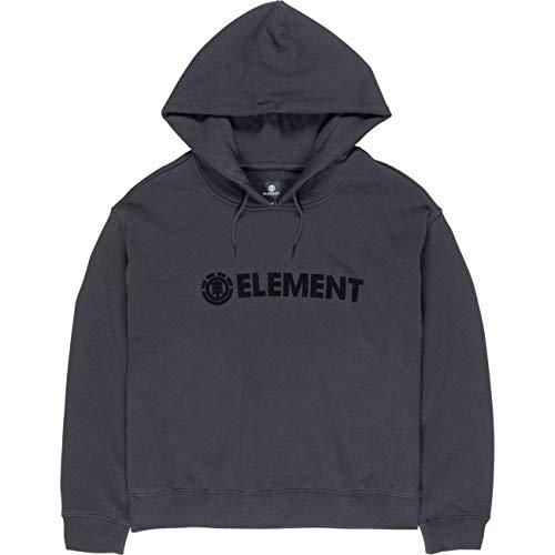 Element Logo - Sudadera con Capucha para Mujer (Forro Polar) Off Black L