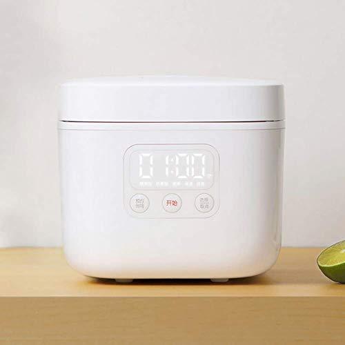 NLRHH 1.6L Intelligente elektrischer Reiskocher Mini Dampfgarer Joghurt-Maschine Kuchen-Hersteller for 1-4 Personen 24H Termin for den Hausgebrauch, Weiss Peng