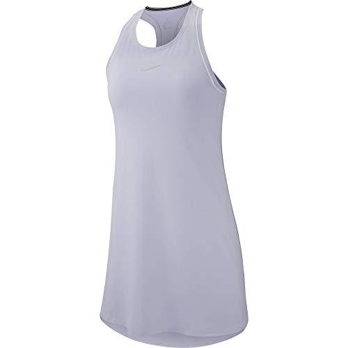 Nike W Nkct Dry Dress Vestito da Donna, Donna, Vestito, 939308_M, Viola (Oxygen Purple) / Bianco/Viola (Oxygen Purple), M