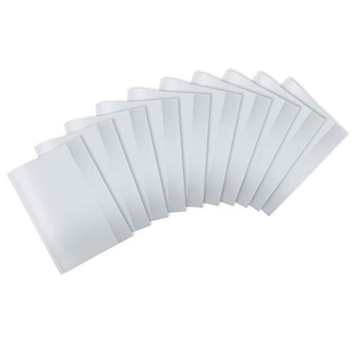 HERMA 20242 Heftumschläge DIN A4 transparent, durchsichtig, Hefthüllen aus strapazierfähiger und abwischbarer Polypropylen-Folie, 10er Set Heftschoner für Schulhefte, klar