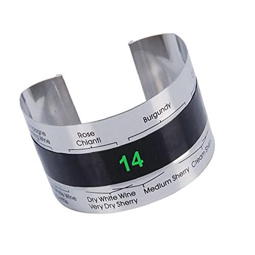 Vino termómetro externo vino del acero inoxidable pulsera con termómetro digital con pantalla para la fabricación de la cerveza de la botella, termómetro