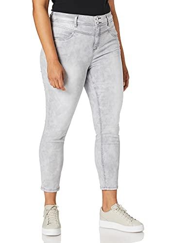 Street One Damen York Jeans, Light Grey Acid wash, W30/L28