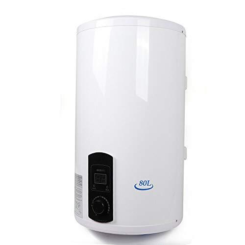 Aohuada Elektro Warmwasserspeicher Wandhängender - Größenwahl 50/80/100 Liter Speicher 2000W Heizleistung und Thermometer - Boiler, Wasserboiler, Warmwasserboiler (80L)