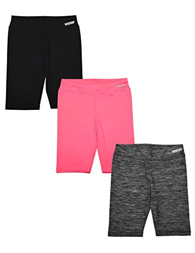 Hind 3-Pack Girls Athletic Shorts, Bike Shorts, Workout Clothes for Girls