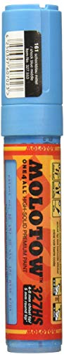 Molotow ONE4ALL Acrylic Paint Markers - 4-8mm Tip - Shock Blue Middle 161 by Molotow