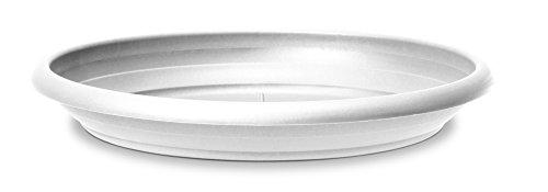Scheurich Untersetzer aus Kunststoff, Pure White, 44 cm Durchmesser, 6,5 cm hoch