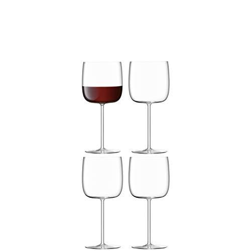 LSA Borough BG13 - Copa de vino, 450 ml, 4 unidades, transparente