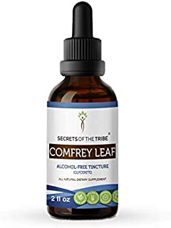 Comfrey Leaf Alcohol-Free Liquid Extract, Organic Comfrey (Symphytum Officinale) Dried Leaf Tincture Supplement (2 FL OZ)