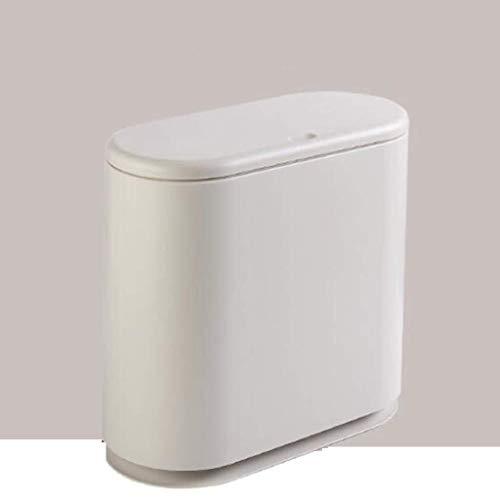 ZfgG Bote De Basura Prensa Tipo Cubo De Basura Grande Cubierto De Papel Cesta Inicio Salón Dormitorio Cocina Baño (Color : B)