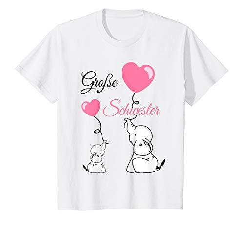 Kinder Große Schwester Baby Babyparty Elefanten Mädchen Nachwuchs T-Shirt