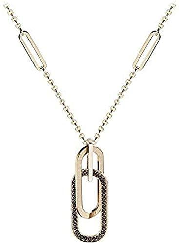 FACAIBA Collar Mujer Hombre Collar con Colgante de Anillo Doble Collar Minimalista Collar para Mujeres Hombres Regalos