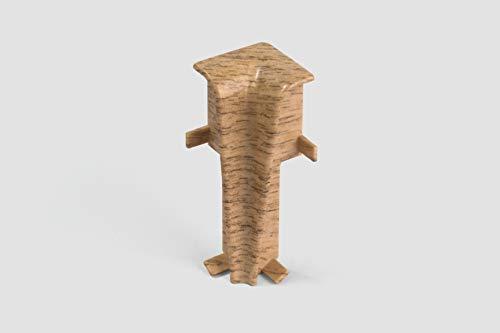 EGGER Innenecke Sockelleiste Eiche rotbraun für einfache Montage von 60mm Laminat Fußleisten   Inhalt 2 Stück   Kunststoff robust   Holz Optik natur