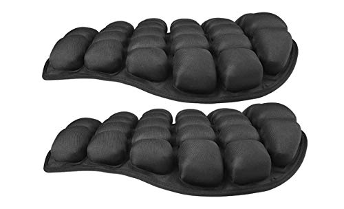 HOMMIESAFE 2 Pack Air Motorcycle Seat Cushion Water Fillable Cooling Down Seat Pad,Pressure Relief Ride Motorcycle Air Cushion Large for Cruiser Touring Saddles