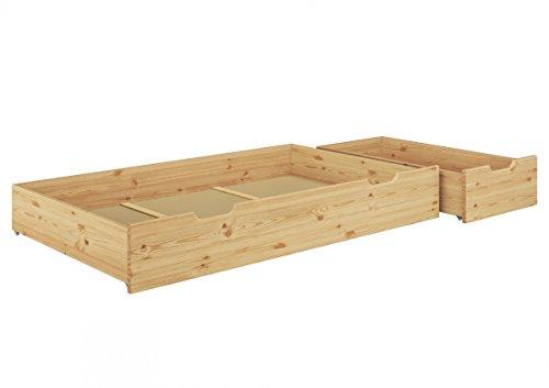 Erst-Holz® Bettkasten für unsere Seniorenbetten - 2-teilig - Kiefer Natur - 90.10-S4-2