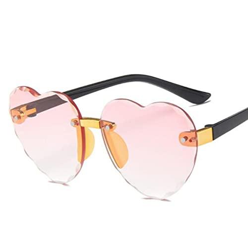 Gafas al Aire Libre Gafas Fotografía de Fiesta Gafas de Sol para niños Gafas de Sol para niños Protección UV 400 Gafas de Sol en Forma de corazón