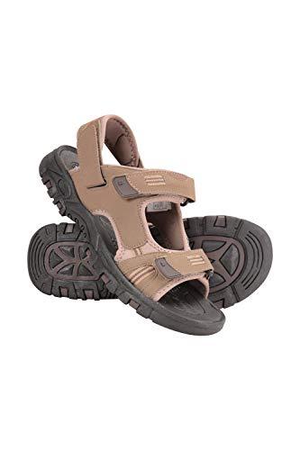 Mountain Warehouse Sandales Crete pour Hommes - Chaussures d'été durables, adhérence Solide, Semelle rembourrée, Doublure en néoprène, Claquettes à Brides Crochet et Boucle Marron 42