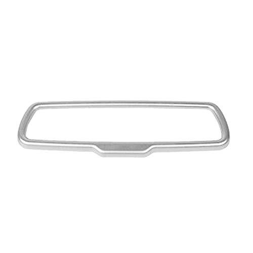 WENYOG Espejo Retrovisor Interior Coche Interior Retroview Espejo de Espejo Trim Piezas de automóvil para Dodge Challenger 2015-2020 Espejo Retrovisor Coche (Color Name : Silver)