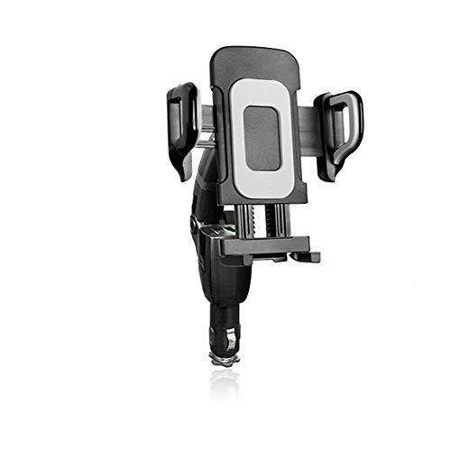 Snelle opladen auto oplader auto telefoon houder Qc3.0 Dual Usb sigaret aansteker auto navigatie beugel opladen multi-hoek rotatie