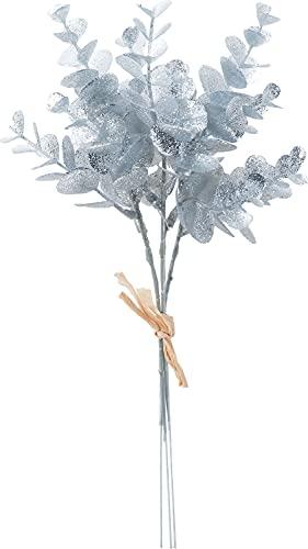 ASCA 造花 グリッターミニユーカリバンチ (1束3本) シルバー AX69896-050