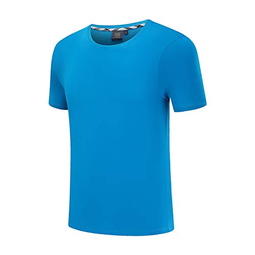 Zaima 3D Casual T-Shirt Solid Color Sports Running Men and Women Short Sleeves