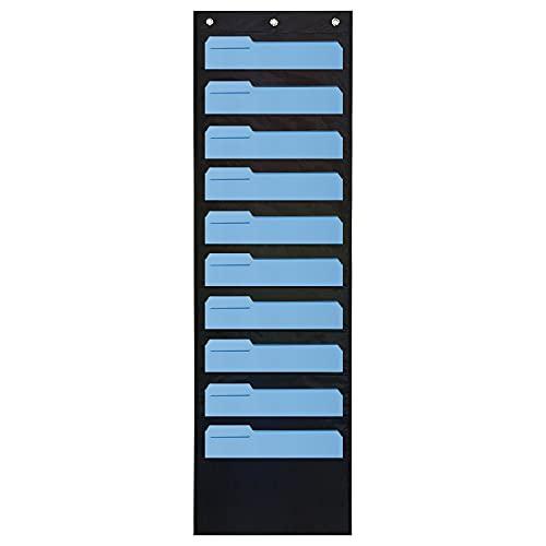CHAOQUN Arazzo per cartellini, organizer da parete, con 10 scomparti di carta, 3 ganci per porta inclusi per cardstock, scrapbooking, carta Craft Paper
