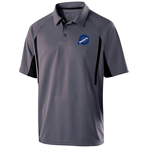 Ebonite Bowling Products Herren Mens PoloGraphite/Black XXX-Large Ebonite Avenger Poloshirt, Graphit/Schwarz, Größe XXXL, 3X