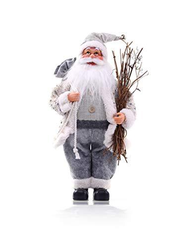DecoKing 46234 Weihnachtsmann 46 cm Nikolaus Weihnachtsfigur Weihnachtsdeko Weihnachtsschmuck Weihnachten Vlad
