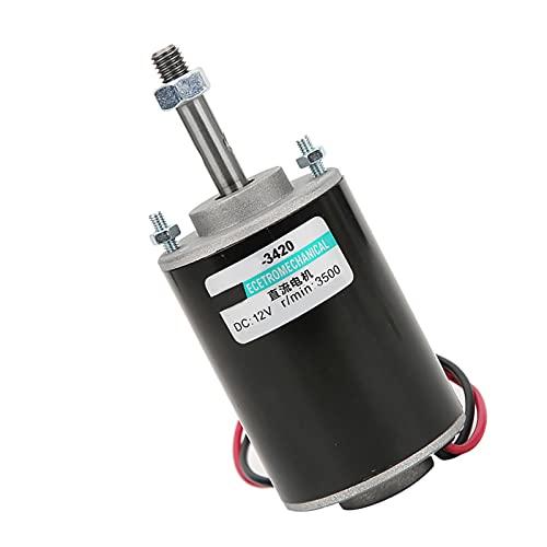 Motor de CC de alta velocidad, generadores de bricolaje, accionamiento de motor de CC cepillado sin problemas y sin ruido para la máquina de hilo de caramelo(12V3500 vuelta)