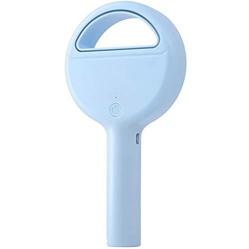 Kirmax Azul Ventilador Portátil Ventilador de Mano Sin Aspas Ventilador Personal Recargable USB Ventilador con Pilas