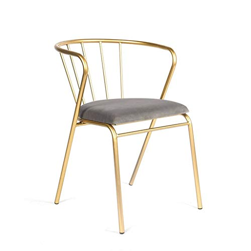 Iron art chair, Makeup stool creative Gold lounge chair Office computer chair Dressing table bedroom clothing store Bar stool