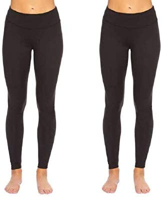 Felina Leggings Wide Waistband Suede Light Weight Super Soft Mid Rise Silhouette 2 Pack 2 Pack product image