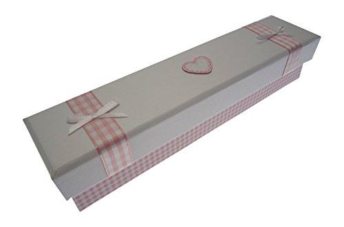 Blanc Coton Cartes d'acte de naissance (Cœur Rose)