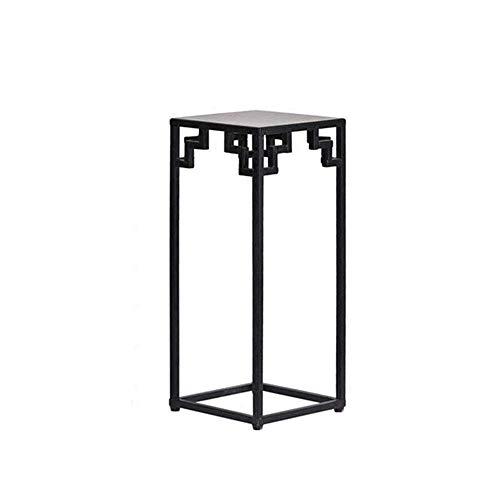 LXYZ Hausnummer im Freien, Haus im Freien Eisen Blumenständer einlagig Chinesisches Wohnzimmer Bonsai Pflanzentopf Rack Teetisch Schwarz im Freien Innen Balkon Haus D & Eacute; COR