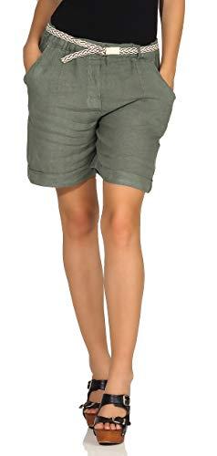 Ligero Ligeros Pantal/ón para Verano cleostyle Cortos Mujer Bermudas Corto Jogger para Informal y Playa 9