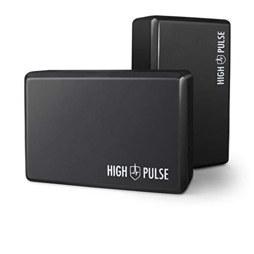 High Pulse® Yoga Block 2-set – högklassig yogaböckning som praktiska tillbehör och hjälpmedel...