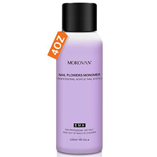 Acrylic Liquid Monomer Acrylic Nail Liquid 4 OZ. for Doing Acrylic Nails Nail Extension Nail Art Non-Yellow