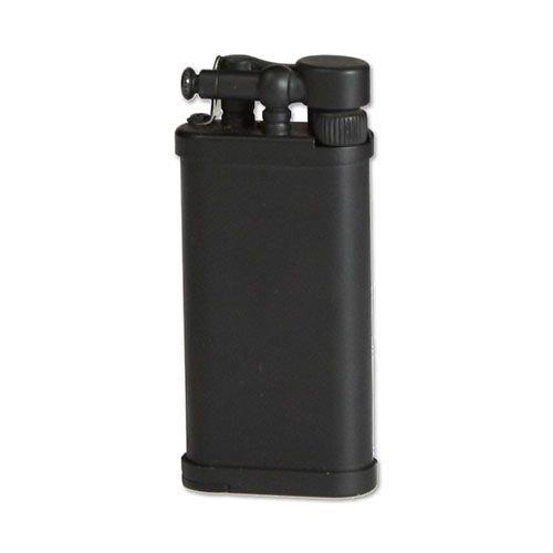 Feuerzeug IM Corona Old Boy für Pfeifen aus Metall beschichtet in schwarz matt