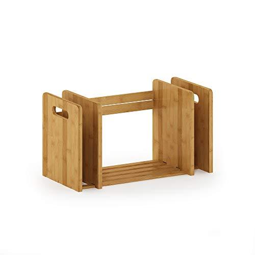 Mejor Furinno Bamboo Extension Book Rack, Natural crítica 2020