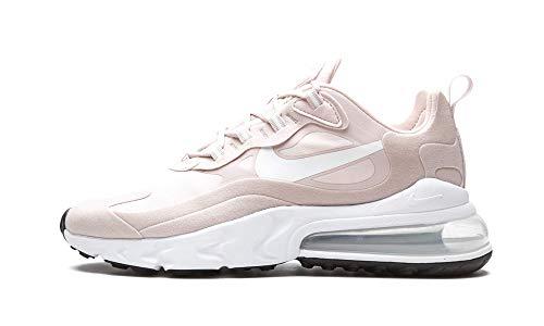 Nike Air Max 270 React - Zapatillas deportivas para correr para mujer, rosado, blanco, negro (barely rose/white/black), 41 EU