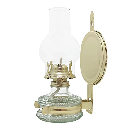 KOLIT Oil Lamp Vintage Nostalgic Style Classic Indoor and Outdoor Kerosene Lamp with Metal Wall-Mounted Bracket, Party Decorative Lamp