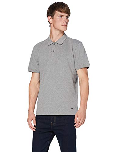 BOSS Mens Ploid Polo Shirt, Medium Grey (034), M