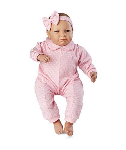 Boneca Bebê Real Expressões - Quero Carinho Roma Jensen Boneca Branca