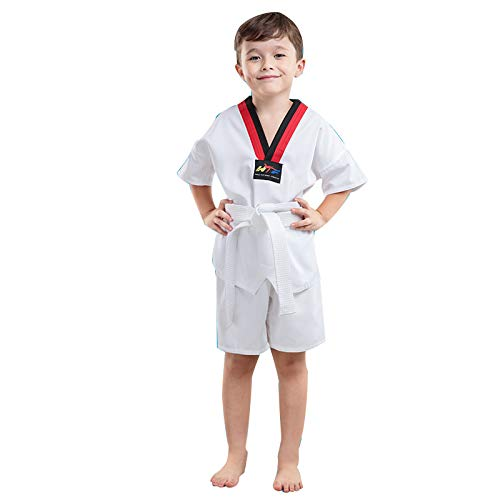 Traje de Taekwondo de algodón Puro para niños Traje de Entrenamiento para Principiantes Vestido de Verano para Hombres y Mujeres Traje de Taekwondo de Manga Corta de Manga Larga-C-XXL