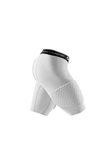 McDavid MD7993 Hex 3-Pad Basketball Shorts, White, Adult: X-Large