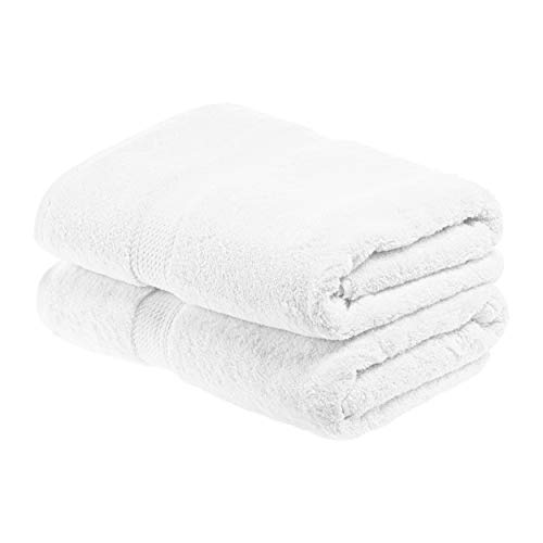 SUPERIOR Egyptian Cotton Solid Towel Set, 2PC Bath, White, 2 Count