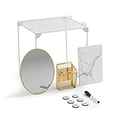 in budget affordable U Brands Cabinet Organizer  Decoration Set, Essentials, Gold, 11 Pieces …
